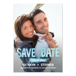Watercolor Ocean Save The Date Cards