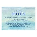 Watercolor Ocean Wedding Enclosure Card