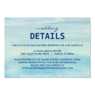 Watercolor Ocean Wedding Enclosure Card