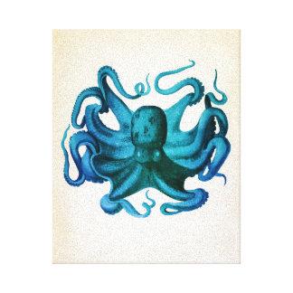 Watercolor Octopus Illustration Canvas Print
