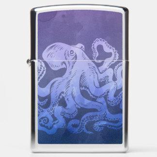Watercolor Octopus Zippo Lighter