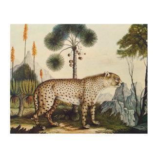 Watercolor of a Cheetah (Zotl) Wood Canvases