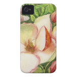 Watercolor of Magnolia Flower iPhone 4 Cases