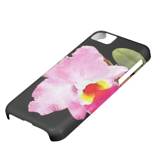 Watercolor of Pink Cattleya Case For iPhone 5C