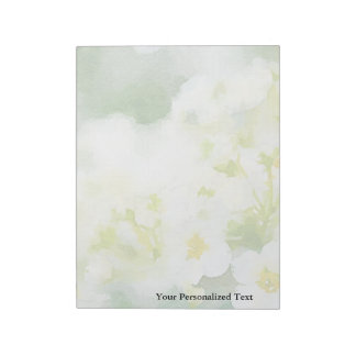 Watercolor of White Flowers Memo Pad