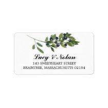Watercolor Olive Branch | Mailing Address Label