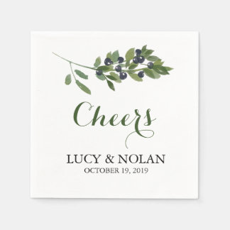 Watercolor Olive Orchard | Cheers! Paper Napkin