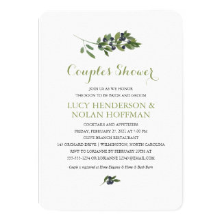 Watercolor Olive Orchard | Couples Shower Card