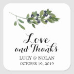 Watercolor Olive Orchard   Favor Thank You Square Sticker