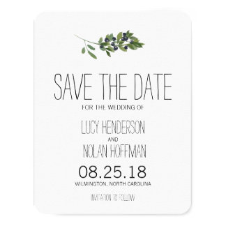 Watercolor Olive Orchard | Save the Date 4.25x5.5 Paper Invitation Card