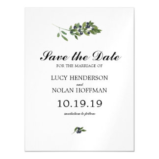 Watercolor Olive Orchard | Save the Date Magnetic Card