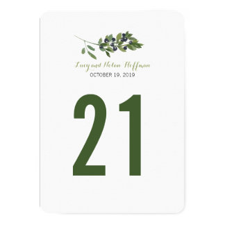Watercolor Olive Orchard | Table Number