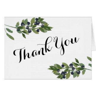 Watercolor Olive Orchard | Thank You Card