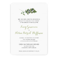 Watercolor Olive Orchard | Wedding Card