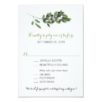 Watercolor Olive Orchard | Wedding RSVP Card