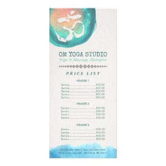 Watercolor Om Symbol YOGA Instructor Price List Rack Card
