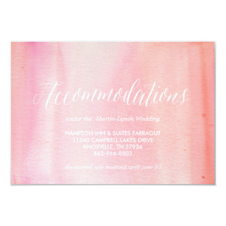 WATERCOLOR OMBRE PINK accommodations car Card