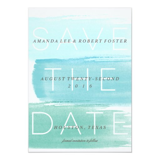 Watercolor Ombre Stripes Save the Date