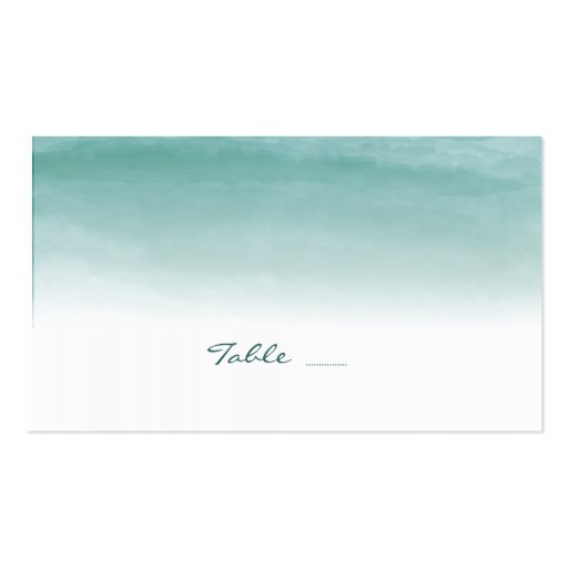 Watercolor Ombre Wedding Escort Cards Business Card Template