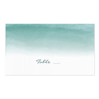 Watercolor Ombre Wedding Escort Cards Double-Sided Standard Business Cards (Pack Of 100)