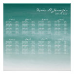 Watercolor Ombre Wedding Seating Chart Posters