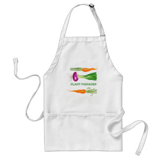 Watercolor Onion and Carrots Adult Apron