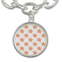 watercolor orange starfish beach design bracelet