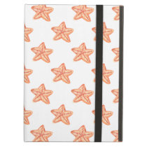 watercolor orange starfish beach design case for iPad air