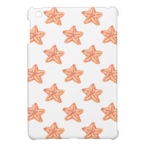watercolor orange starfish beach design iPad mini case