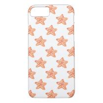 watercolor orange starfish beach design iPhone 7 case