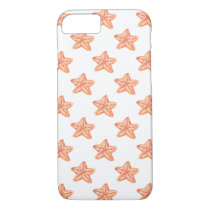 watercolor orange starfish beach design iPhone 8/7 case