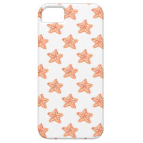 watercolor orange starfish beach design iPhone SE/5/5s case