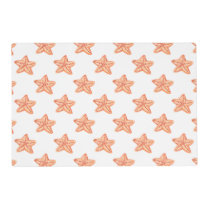 watercolor orange starfish beach design placemat