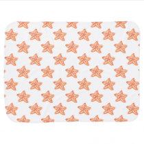 watercolor orange starfish beach design swaddle blanket