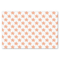 watercolor orange starfish beach design tissue paper