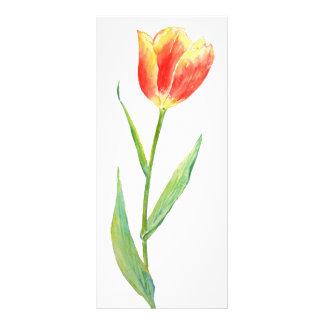 Watercolor Orange Tulip Mini Book Mark Rock Card