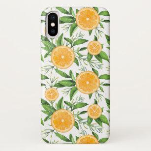 Oranges Foliage White iphone 11 case