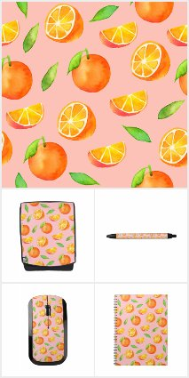 Watercolor Oranges Pattern