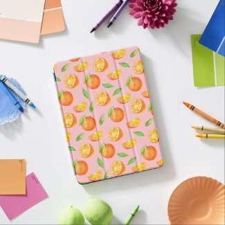 Watercolor Oranges Pattern iPad Air Cover