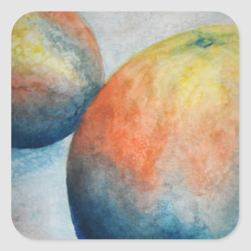 watercolor oranges stickers