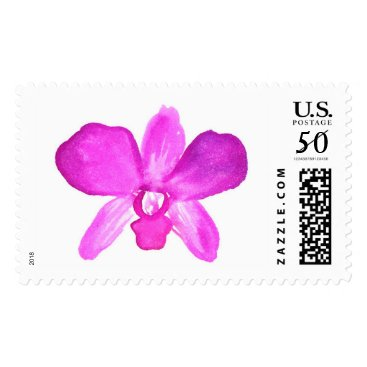 Hawaiian Themed Watercolor Orchid Stamps