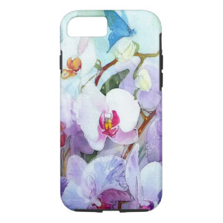 Watercolor Orchids White and Pink iPhone 7 Case