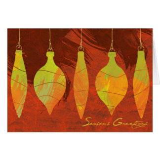 Watercolor Ornaments Holiday Greeting Cards