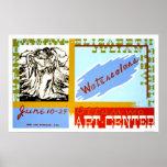 Watercolor Ottumwa Art 1940 WPA Poster