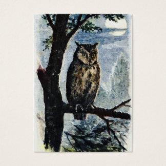 Watercolor Owl Art Business Card
