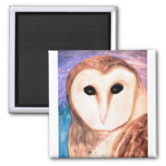 Watercolor Owl Magnet