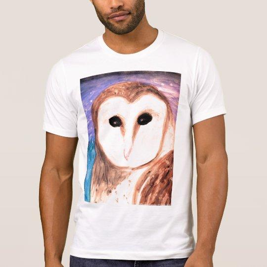 Watercolor Owl Men's Destroyed T-shirt