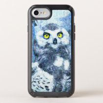 Watercolor Owl Yellow Eyes Cell Phone Case