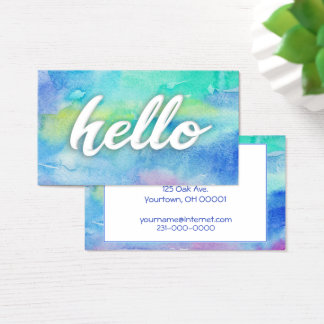 watercolor paint business card