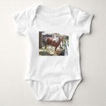 Watercolor Paint Horse Baby Bodysuit
